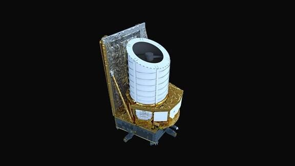 Künstlerische Darstellung des geplanten ESA-Weltraumteleskops Euclid.