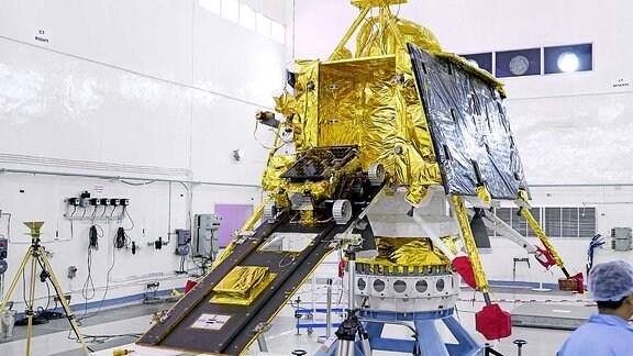 """Indische Raumsonde Viktram mit Rover """"Pragyan"""""""