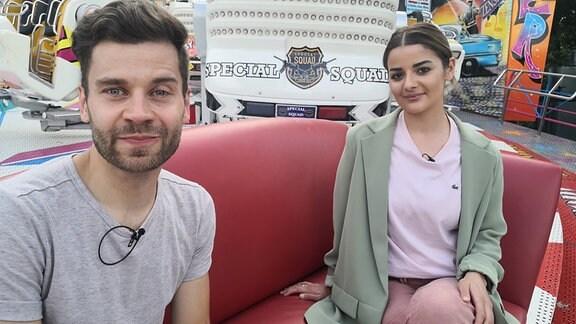 Science-vs-Fiction Moderator Jack Pop und Psychotherapeutin Nesibe Özdemir