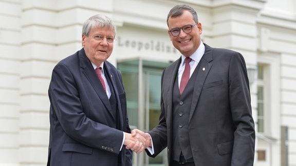 Übergabe der Leopoldina-Präsidentschaft: Jörg Hacker und Gerald Haug