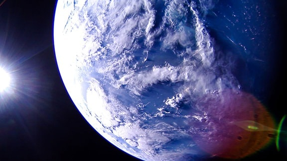 Karibik von Satellit LightSail 2 aus gesehen