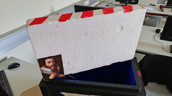 Eine Styroporbox