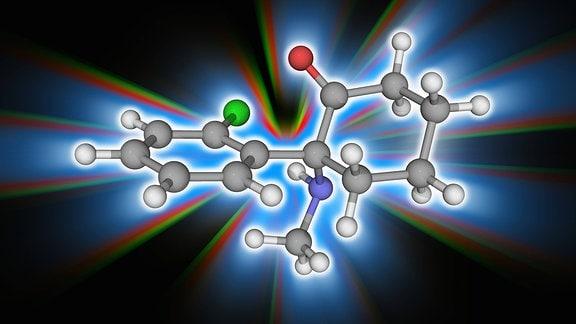 Molekular-Modell der Droge Ketamin