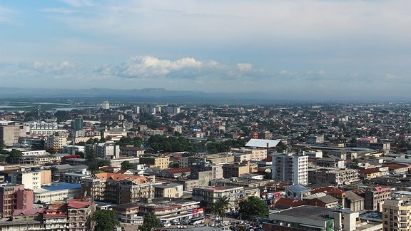 Blick auf Kinshasa