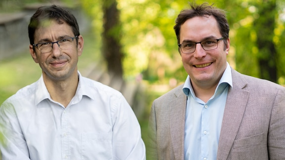 Sönke Zaehle vom Max-Planck-Institut für Biogeochemie und Johannes Quaas, Professor für Theoretische Meteorologie an der Universität Leipzig