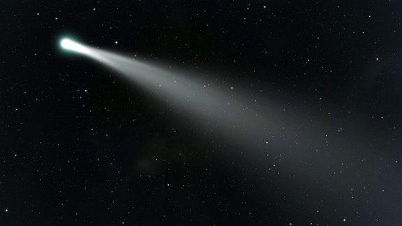 Ein Komet im Weltall