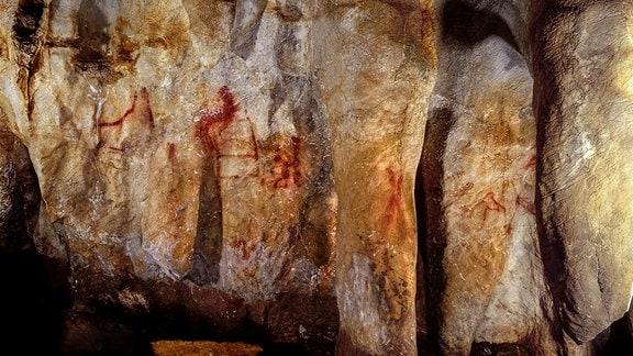 La Pasiega Höhlenwand mit Malerei
