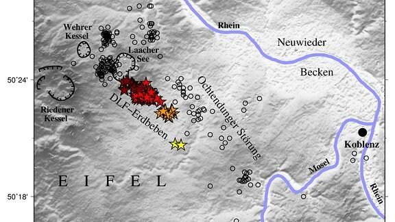 Tiefe Erdbeben weisen auf Aufstieg magmatischer Fluide unter dem Laacher See hin