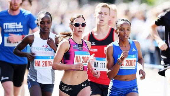 Läufer bei einem Marathon.