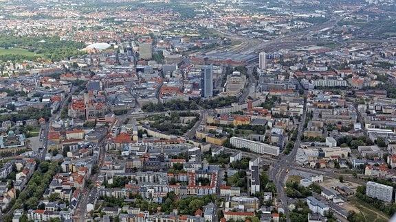 Leipzig - Luftaufnahme