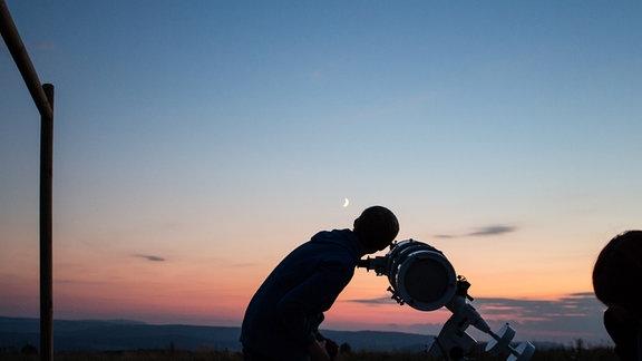 Sternenbeobachtung auf der Hohen Geba in Thüringen