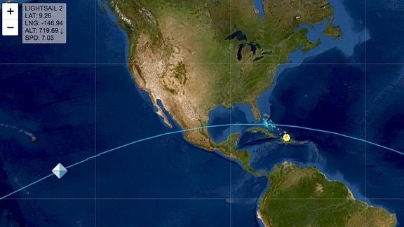 LightSail 2 Überflug der Karinbik am 23 Juli 2019