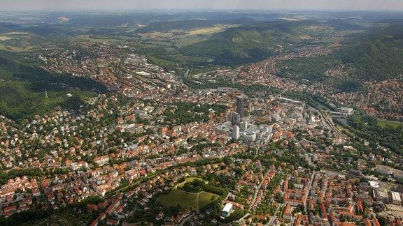 Luftbild Jena, 2017