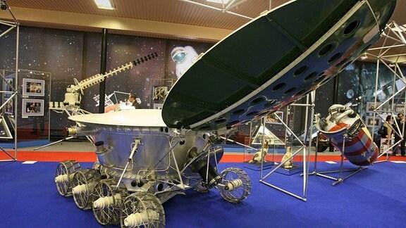 Das Luna 9 Raumfahrzeug im Museum
