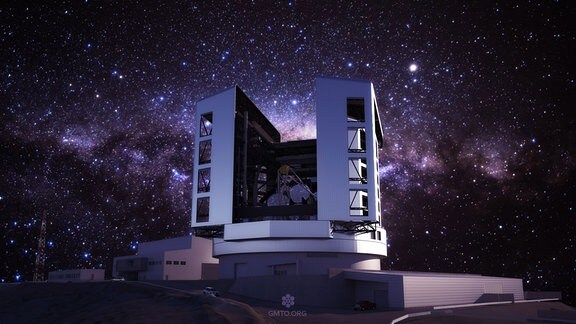 Computergrafik des geplanten Giant Magellan Telescope in Chile.
