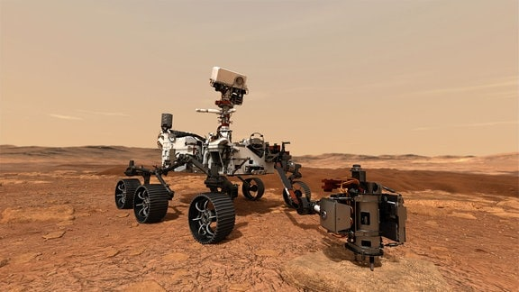 Illustrationen von Mars Rover 2020