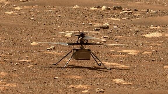 Helikopter Ingenuity auf dem Mars
