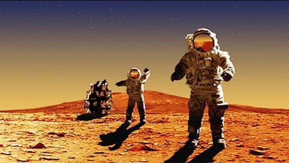 Astronaut auf dem Mars.