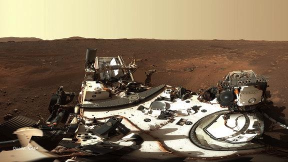 Panoramaufnahme des Marsrover Perseverance