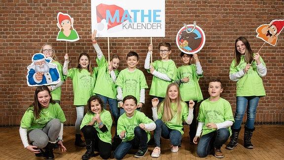 Mathe im Leben, eine Gruppe Kinder