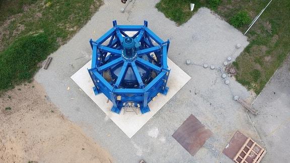 Das Foto zeigt den fertig montierten RKS-Demonstrator von oben betrachtet