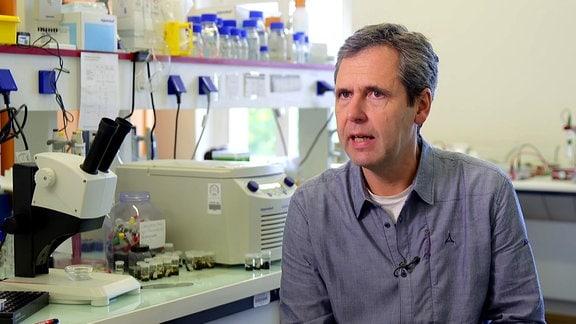 Ein Wissenschaftler im Labor