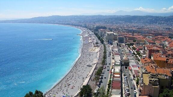 Die Strandpromenade von Nizza