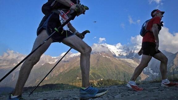Teilnehmer beim Ultra-Trail du Mont-Blanc