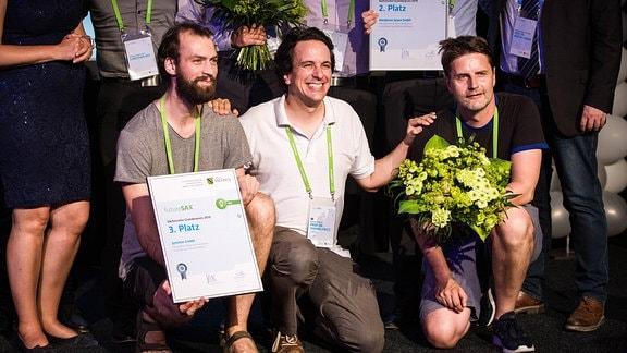 Futuresax Preisverleihung. 3. Platz Gründerpreis Jymmin GmbH.