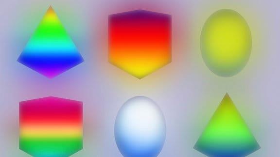 Dreidimensionale geometrische Neonformen