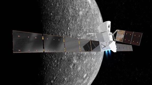 Merkursonde umkreist Planeten.