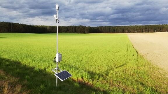 Meteorologische Messstation für die FESSTVaL-Kampagne bei Lindenberg
