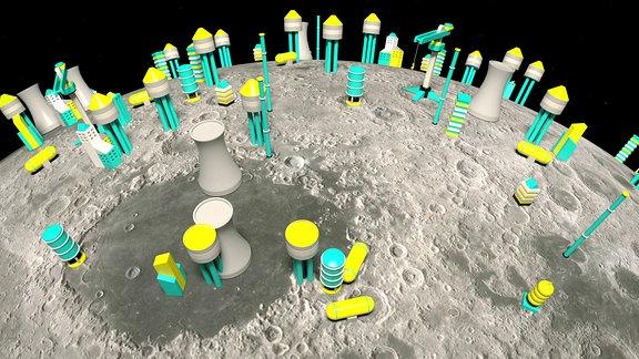 Mond 3-D-Druck