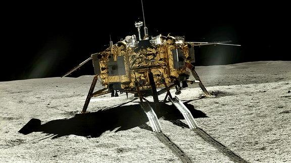 Mondrückseite, Aufgenommen von Yutu-2