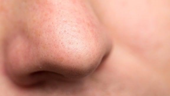 Nase eines Mannes