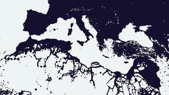 Die App zeigt auch die Teilung der Welt aus Perspektive der Netzabdeckung. Westliche Länder sind besonders gut versorgt.