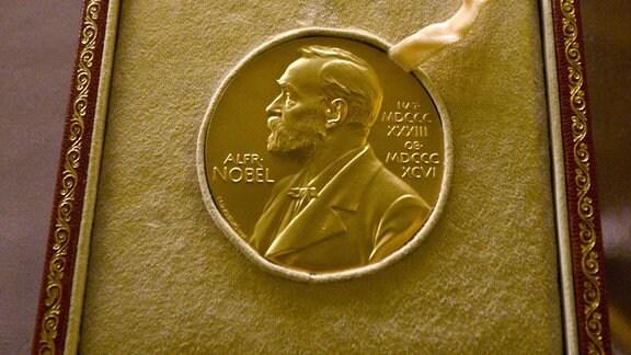 Nobelpreis-Medaille in Kästchen