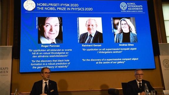 Nobelpreis für Physik an Roger Penrose, Reinhard Genzel und Andrea Ghaez