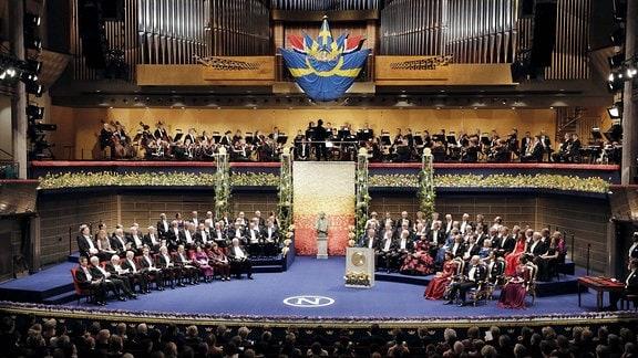 Nobelpreis Verleihungszeremonie im Konserthuset, Stockholm, Schweden