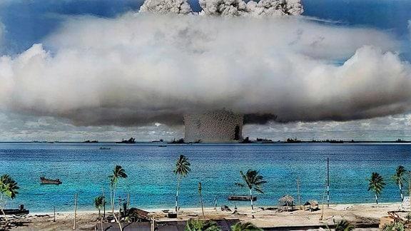 Nukleartest auf den Marshall-Inseln.