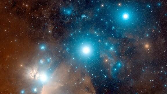 """Die drei """"Gürtel-Sterne"""" aus dem Sternbild Orion: Mintaka, Alnilam und Alnitak"""
