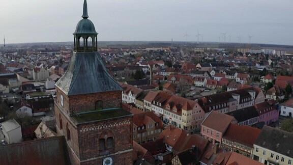 Osterburg aus der Vogelperspektive