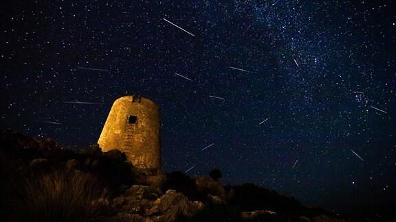 Perseiden Meteorschauer Asteroid