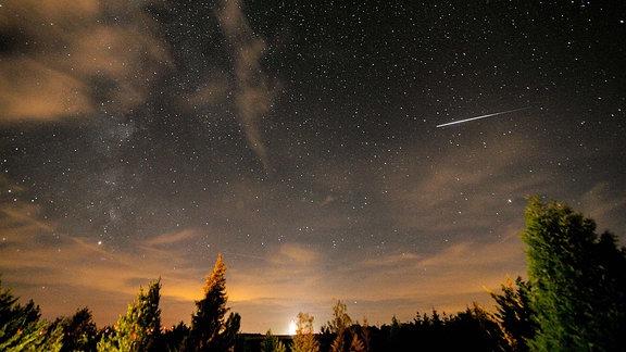 Sternenhimmel mit Sternschnuppe