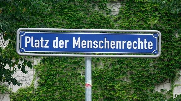 Platz der Menschenrechte in Karlsruhe.