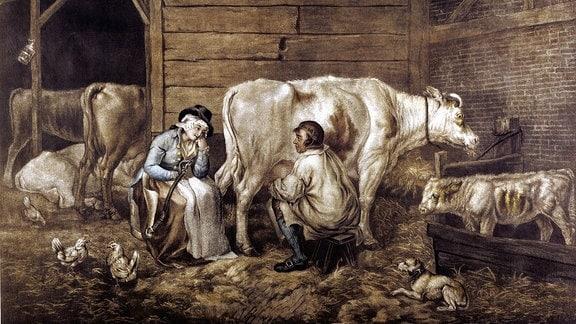 Der Kuhstall, nach George Morland