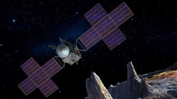 Psyche-Raumsonde der NASA und Asteroid Psyche