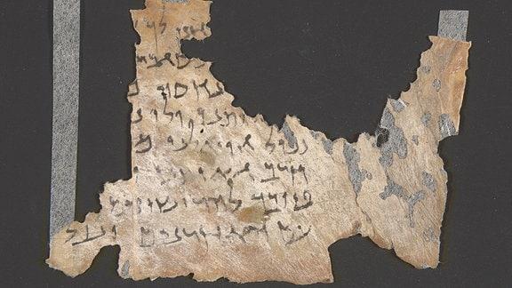 Fragment einer antiken Schriftrolle