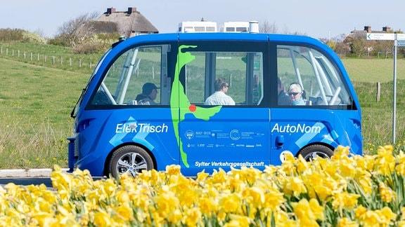 autonomer Linienbus auf Sylt