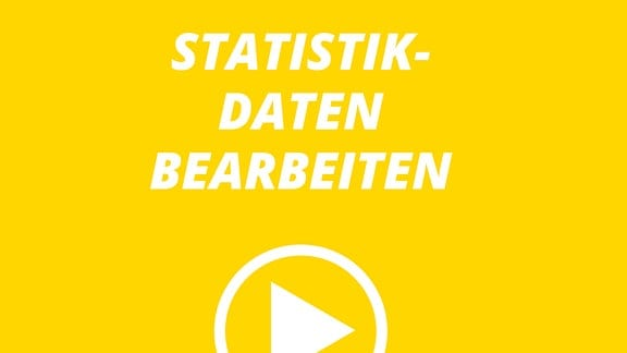 """Text """"Statistikdaten bearbeiten"""" und stilisierter Wiedergabe-Button"""